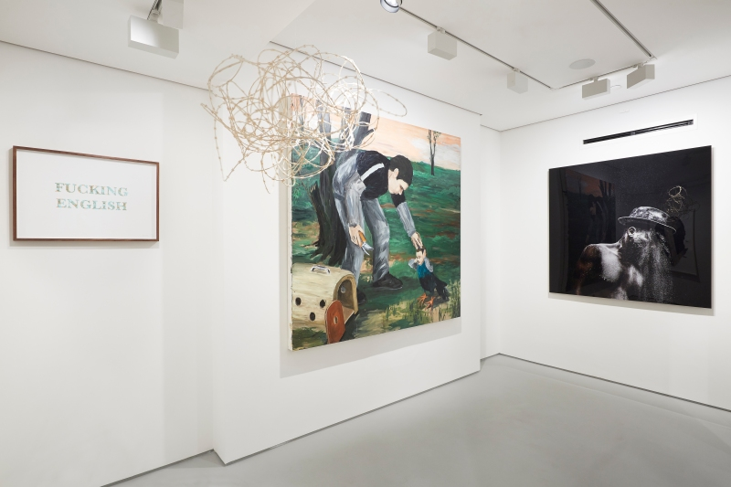 Broken English, Exhibition view , Tyburn Gallery, 2015, Courtesy Tyburn Gallery