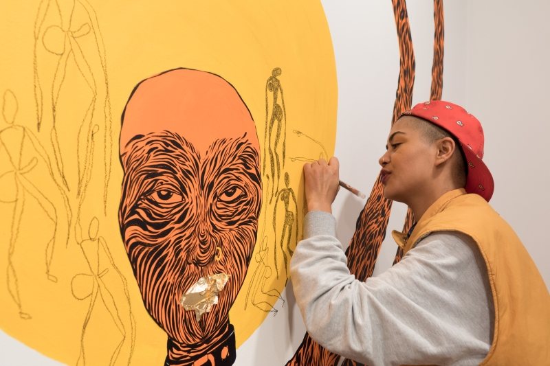lady-skollie-paints-her-mural-for-lust-politics-at-tyburn-gallery-london-copyright-the-artist-courtesy-tyburn-gallery-photo-by-batandwa-alperstein